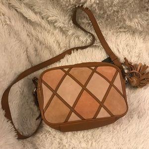 NWT Zara Bohemian vibe Leather shoulder bag